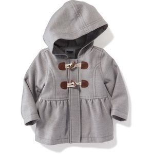 Old Navy Baby Girl Hooded toggled coat 0-3 Months